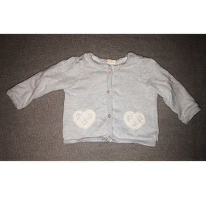 H&M Soft Cardigan with Heart Patches